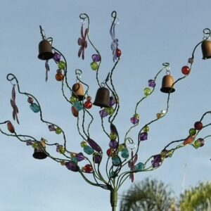 Flower and Beads Yard Decoration
