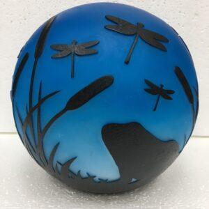 Frog Flickering Gazing Ball